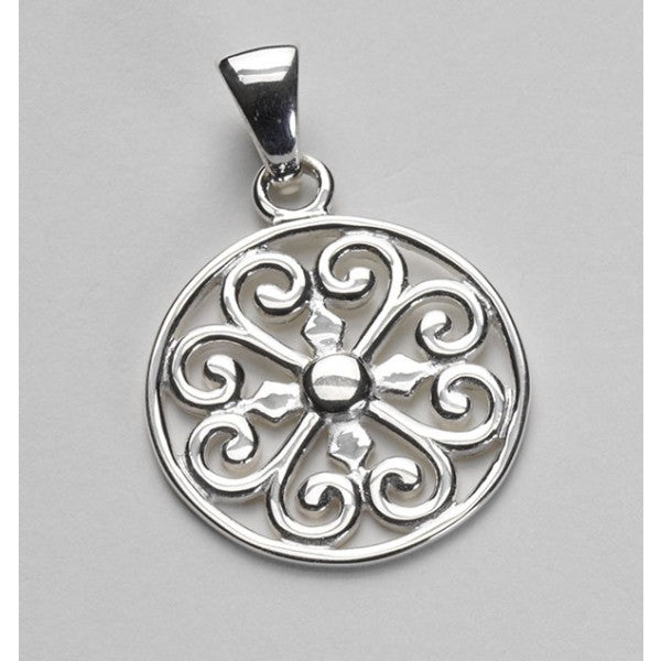 Inspiration Series Large Round Heart Scroll Pendant