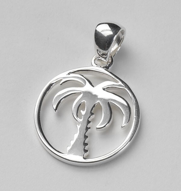 Southern Gates Sterling Silver Palmetto Tree Pendant