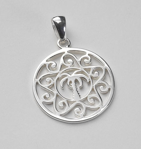 Southern Gates Sterling Silver Large Palmetto Scroll Pendant