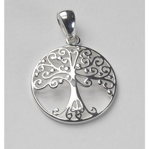 Southern Gates Collection Southern Oak Series Medium Round Oak Tree Pendant