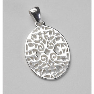 Southern Gates Collection Classic Series Small Oval Scroll Pendant