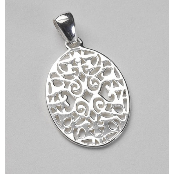 Classic Series Small Oval Scroll Pendant