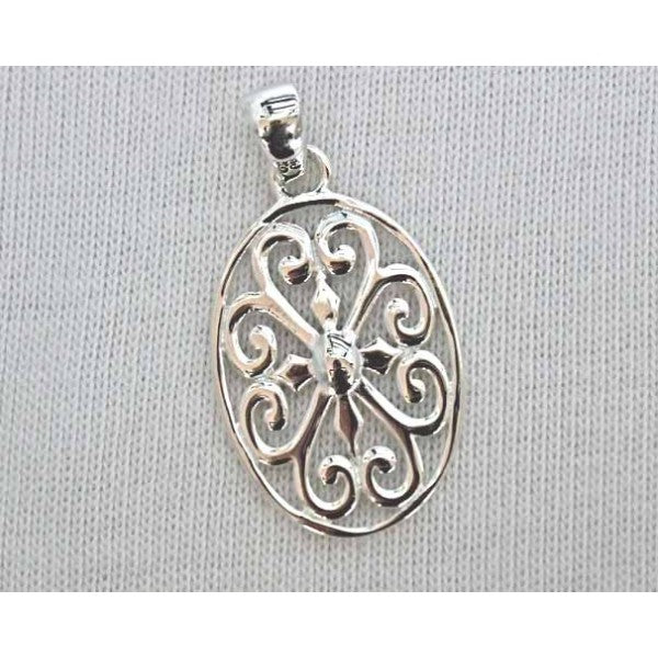 Inspiration Series Oval Heart Scroll Pendant
