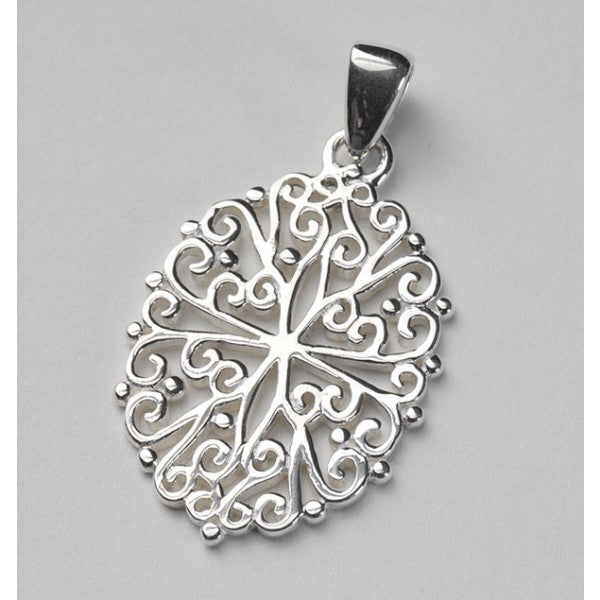 Southern Gates Collection - Ornamental Series Filigree Oval Pendant