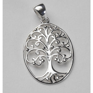 Southern Gates Collection Southern Oak Series Medium Oval Oak Tree Pendant