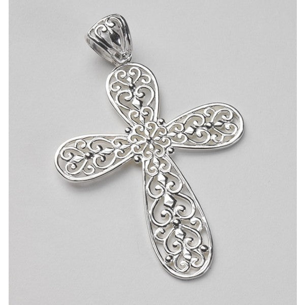 Inspiration Series Large Filligree Cross Pendant