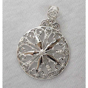 Southern Gates Sterling Silver Large Sand Dollar Pendant