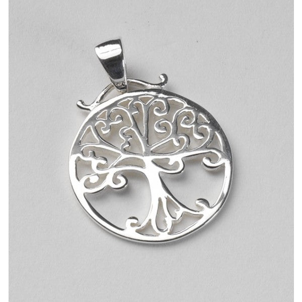 Southern Gates Collection Southern Oak Series Flat Round Oak Tree Pendant