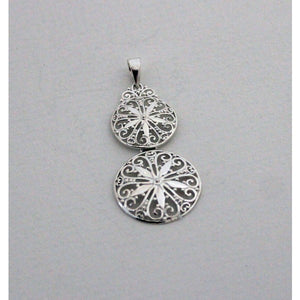Southern Gates Collection Sterling Silver Double Sand Dollar Pendant