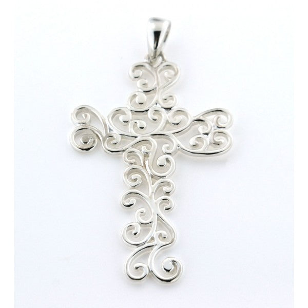 Southern Gates Collection Inspiration Series Large Swirl Cross Pendant