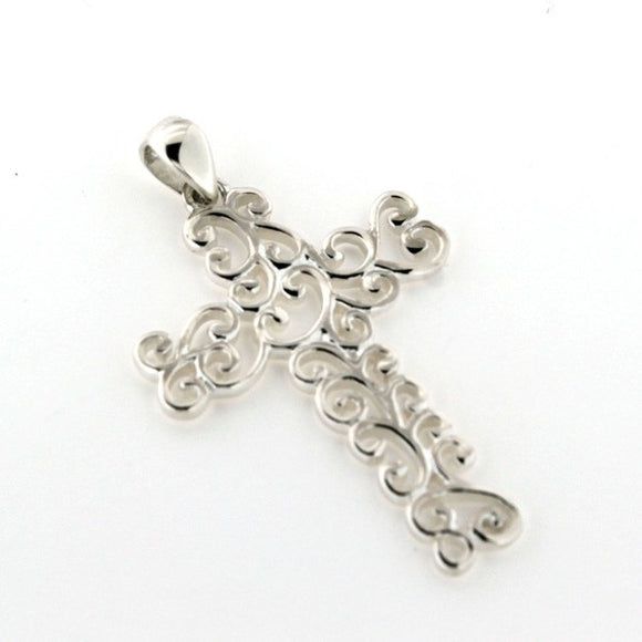 Inspiration Series Small Swirl Cross Pendant