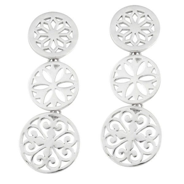 Classic Series Triple Dangle Post Earrings