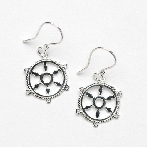 Southern Gates Harbor Series Ship Wheel Earrings