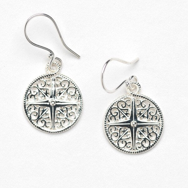 Harbor Series Compass Rose Earrings