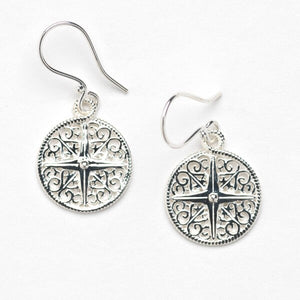 Southern Gates Harbor Series Compass Rose Earrings