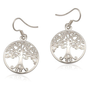 Southern Gates Collection Southern Oak Series Medium Round Oak Tree Earrings