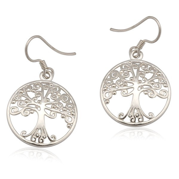 Southern Oak Series Medium Round Oak Tree Earrings