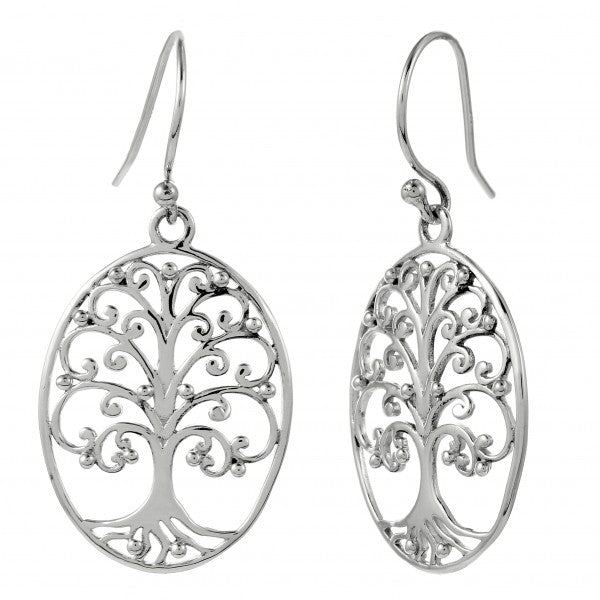 Southern Gates Collection Southern Oak Series Medium Oval Oak Tree Earrings