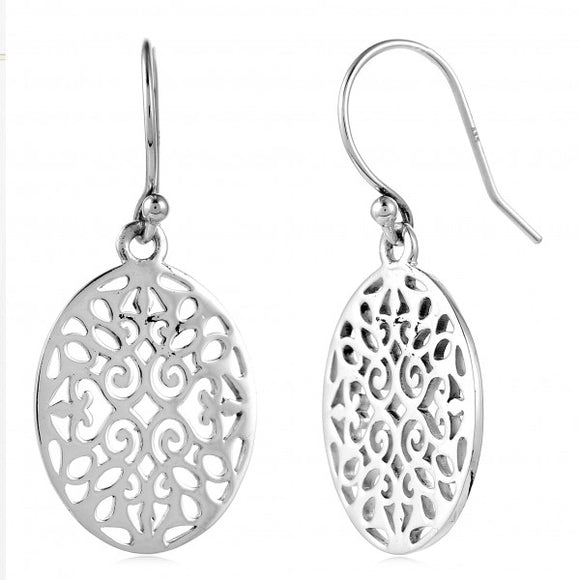 Classic Series Small Oval Scroll Earrings