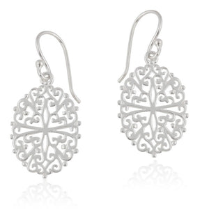 Southern Gates Collection - Ornamental Series Filigree Oval Earrings