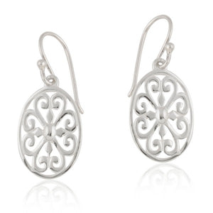 Southern Gates Collection Ornamental Series Oval Heart Scroll Earrings