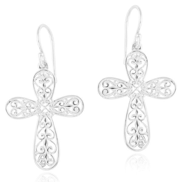 Inspiration Series Scroll Cross Earrings