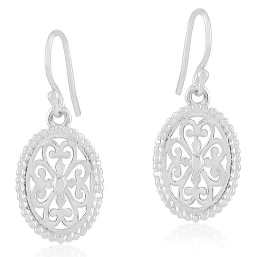 Southern Gates Collection Inspiration Series Beaded Oval Heart Scroll Earrings