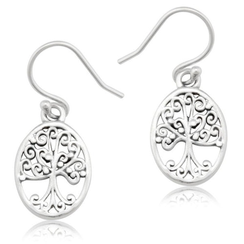 Southern Gates Collection Southern Oak Series Small Oval Oak Tree Earrings