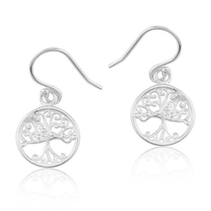 Southern Gates Collection Southern Oak Series Small Round Oak Tree Earrings