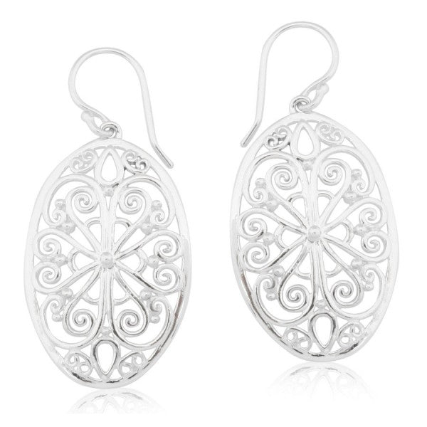 Southern Gates Collection - Ornamental Series Flower Filigree Large Earrings