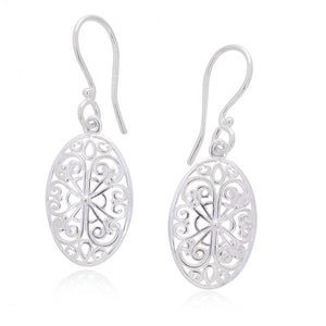 Southern Gates Collection - Ornamental Series Flower Filigree Small Earrings