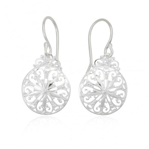 Southern Gates Sterling Silver Small Sand Dollar Earrings