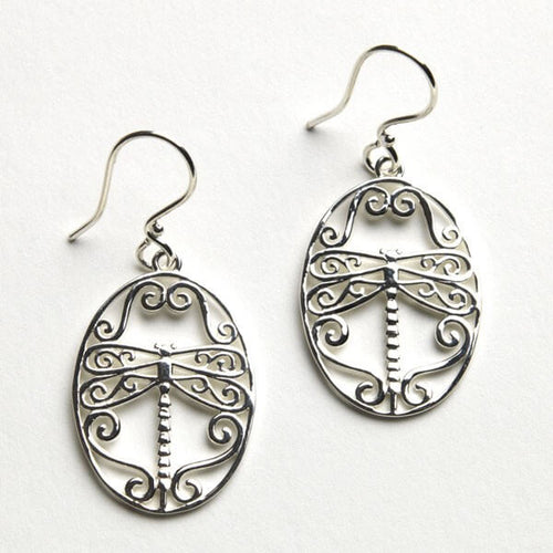 Southern Gates Collection Sterling Silver Dragonfly Earrings