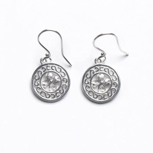 Southern Gates Sterling Silver Dogwood Earrings
