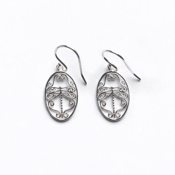 Southern Gates Sterling Silver Small Dragonfly Earrings