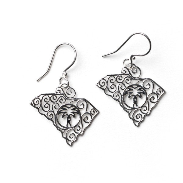 Southern Gates Collection Lowcountry Series South Carolina State Earrings