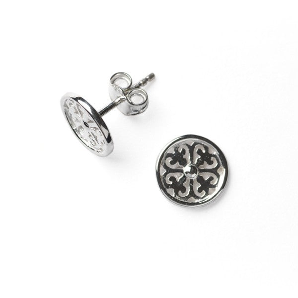 Inspiration Series Tiny Scroll Stud Earrings