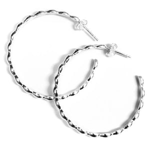 Rice Bead Hoop Earrings Large - eastwindsonline.com