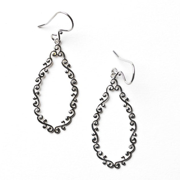 Courtyard Series Open Teardrop Earrings
