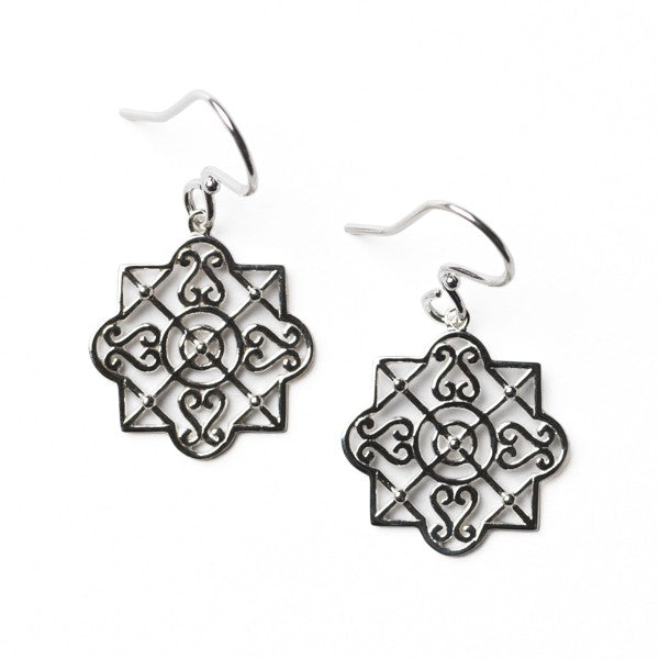 Southern Gates Collection Terrace Series Heart Scroll Trellis Earrings
