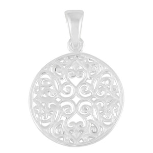 Southern Gates Collection Small Round Original Scroll Pendant