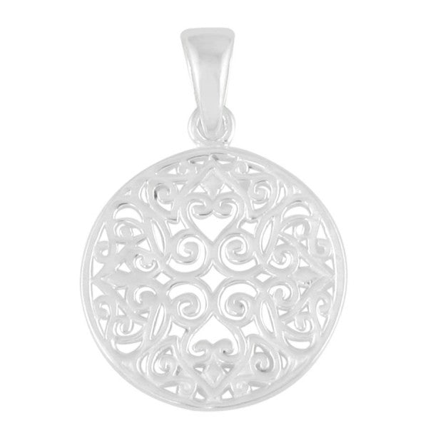Classic Series Small Round Original Scroll Pendant