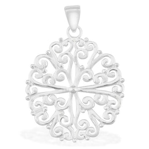 Southern Gates Collection - Ornamental Series Filigree Round Pendant