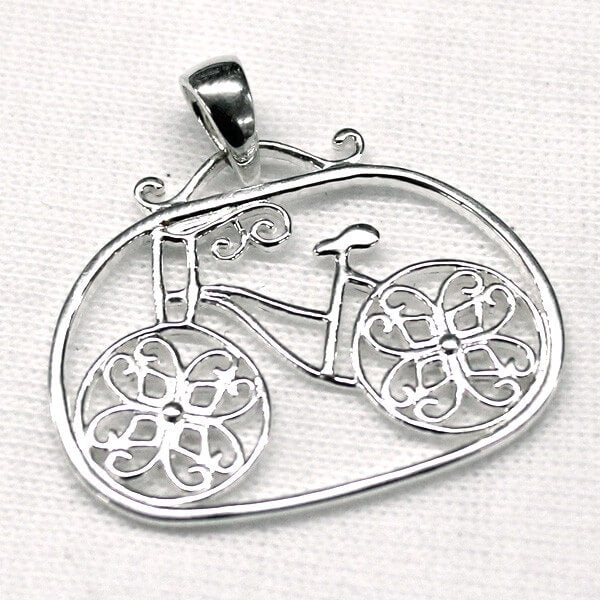 Southern Gates Collection LowCountry Series Sterling Silver Bicycle Pendant