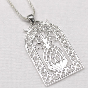 Scroll Framed Pineapple Pendant - eastwindsonline.com