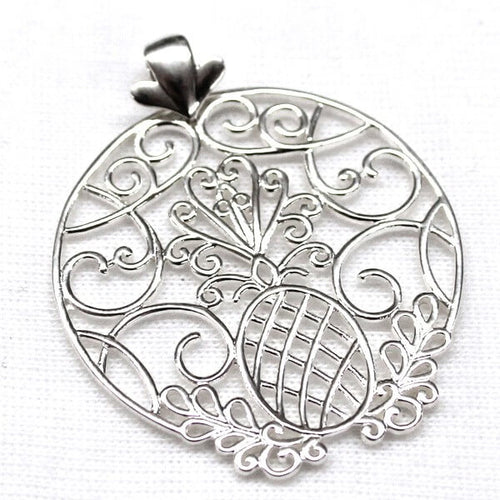 Southern Gates Lowcountry Series Pineapple Scroll Large Pendant