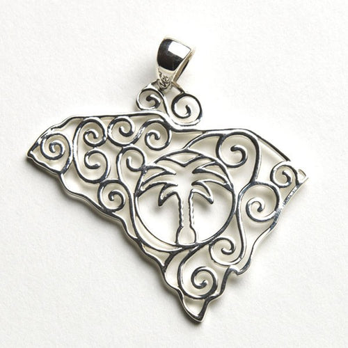 Southern Gates Lowcountry Series Large South Carolina Pendant
