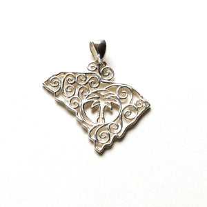 Southern Gates Lowcountry Series Small South Carolina Pendant