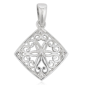 Southern Gates Collection - Ornamental Series Diamond Scroll Pendant