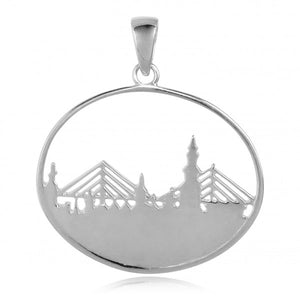 Southern Gates Collection - LowCountry Series Charleston Skyline Engraveable Pendant